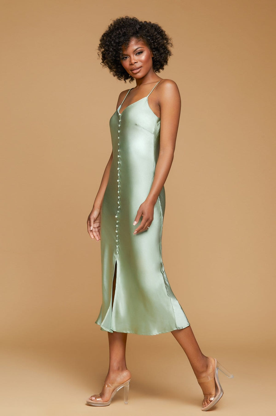 'Sophia' Midi Slip Dress