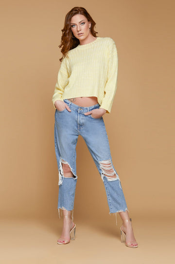 'Drew' Cropped Sweater