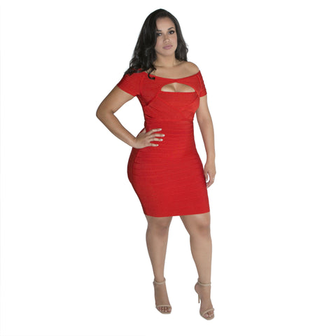 'Vanessa' Lace Bandage Dress