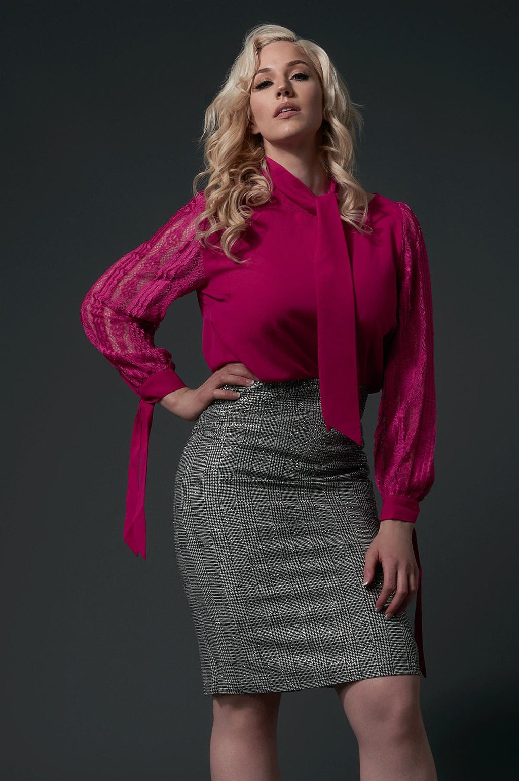 'Gwyneth' Embelished Pencil Skirt