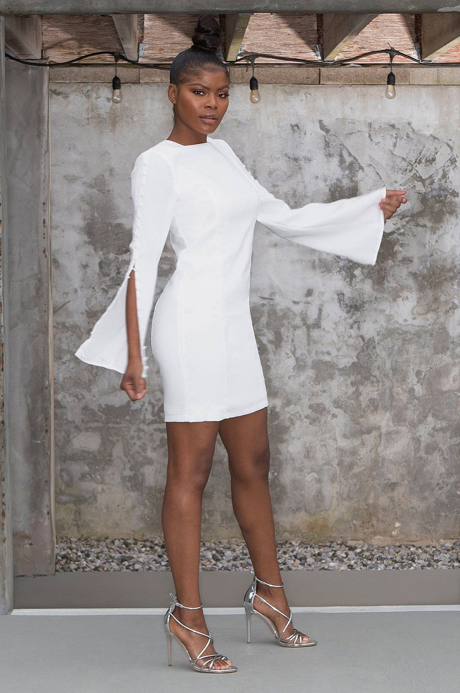 'Hayden' Cape Sleeve Mini Dress