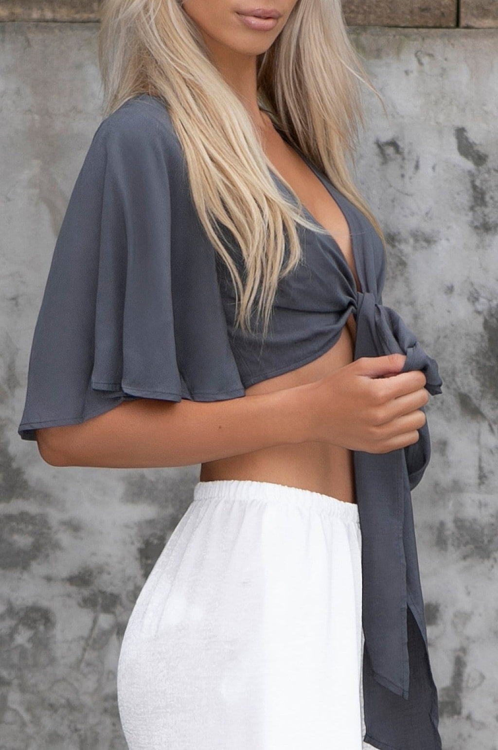 'Alyssa' Front Tie Crop Top