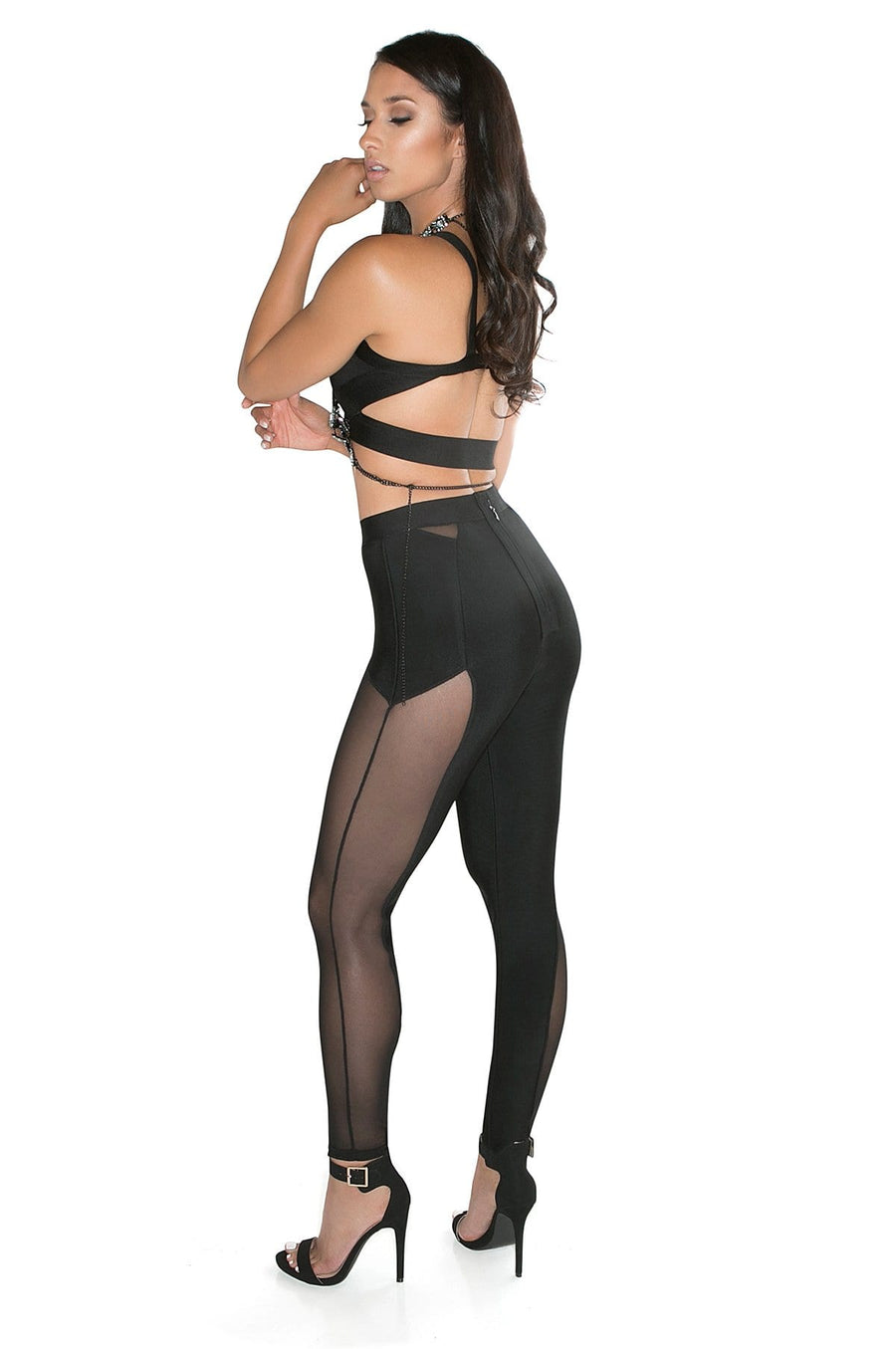 'Invidia' Bandage and Mesh Pants