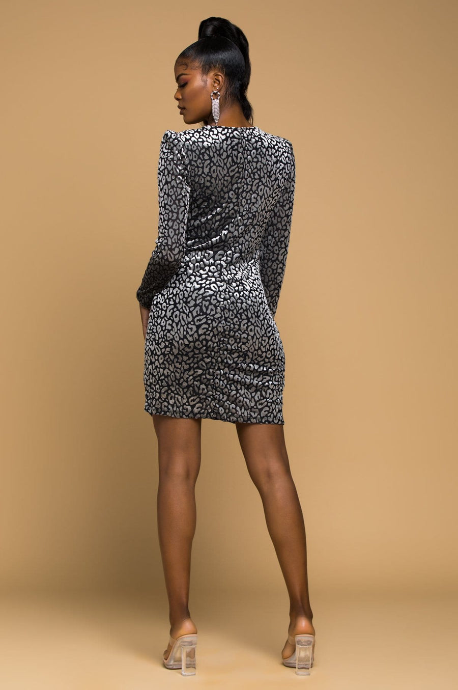 'Azariah' Animal Print Mini Dress