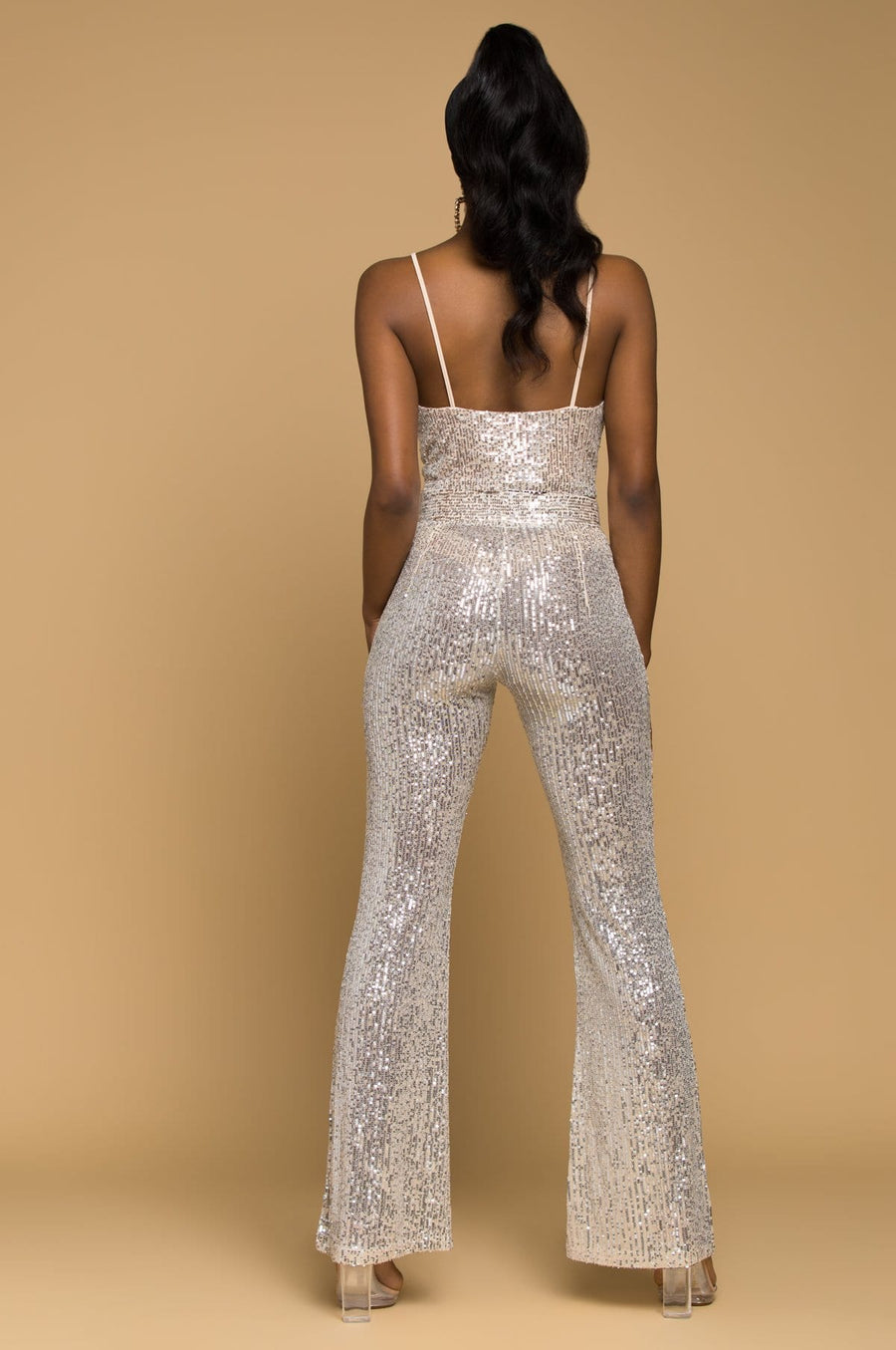 'Jessie' High Waisted Sequin Pants