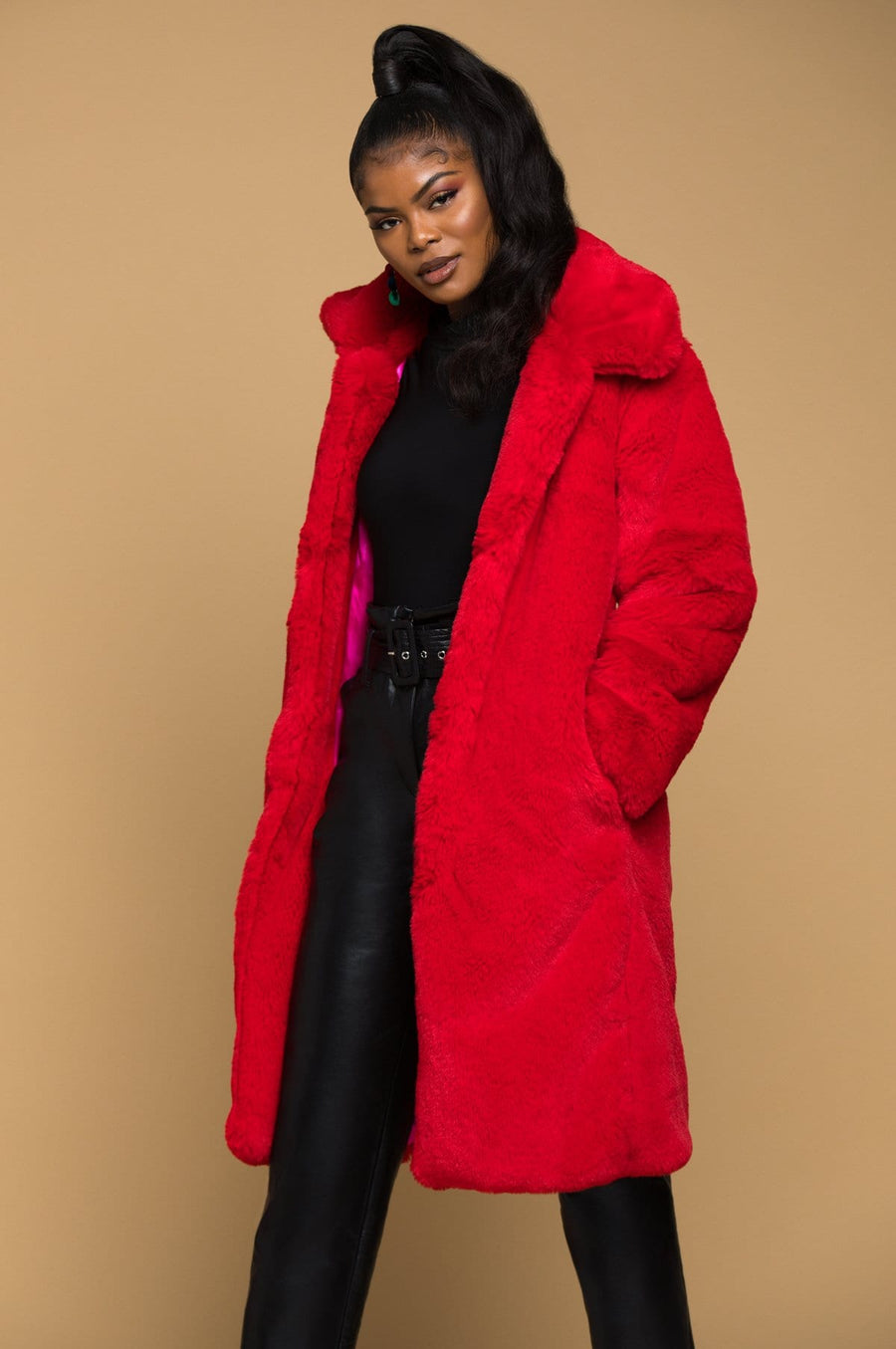 'Katori' Faux Fur Coat