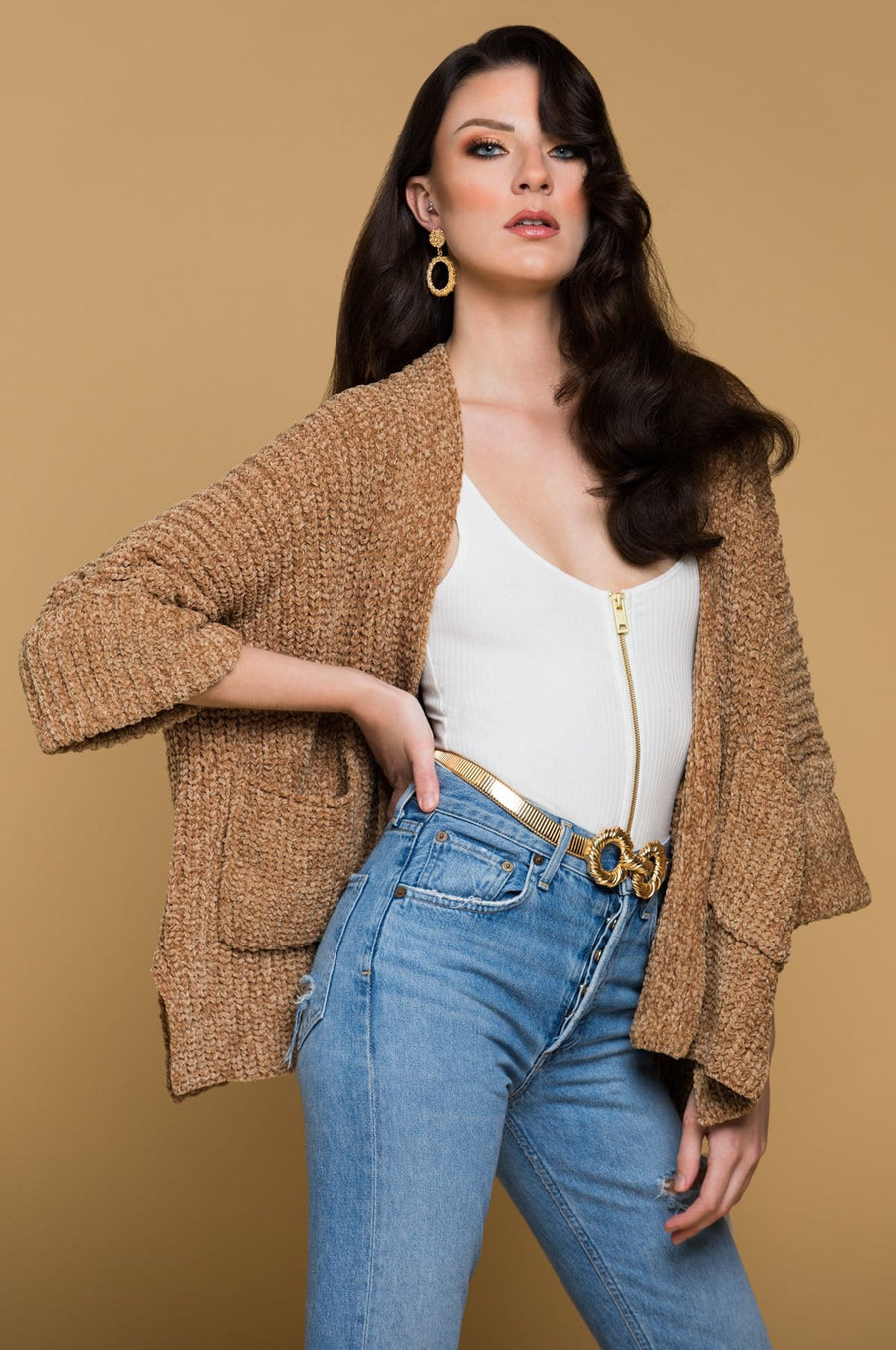 'Tasha' Cable Knit Cardigan