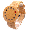 12 Holes Design Unique Wood Watches