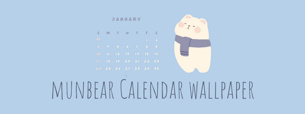 January Calendar Wallpaper by Bymunbear