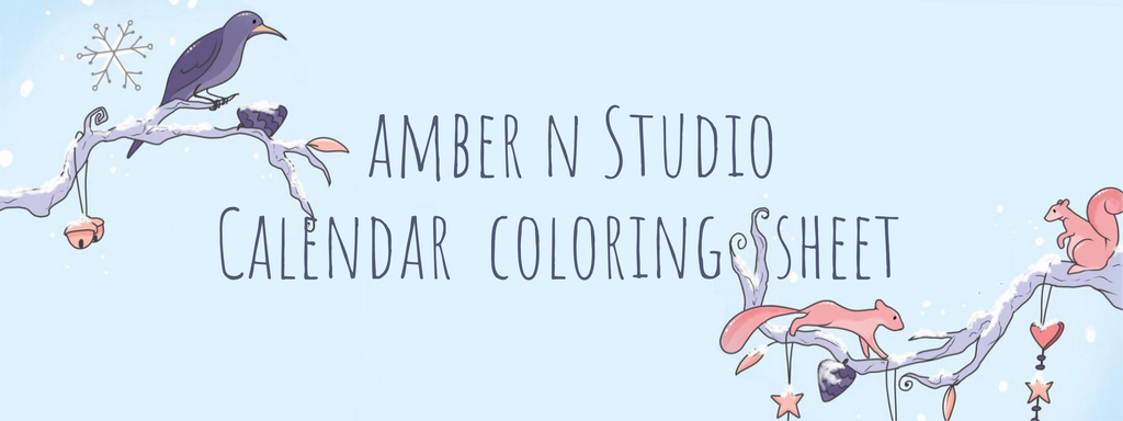 Amber N Studio Coloring Calendar Sheet