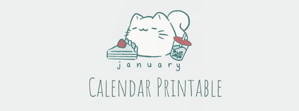 January Calendar Printable by Elbth_Cafe