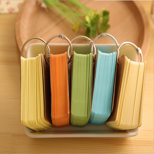 Colorful Key Ring Memo Pad