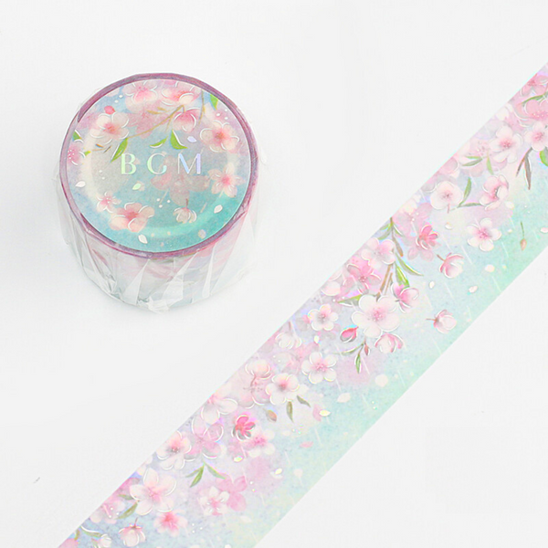 BGM Limited Edition Cherry Blossom Washi Tape - Wide - Sakura Rain