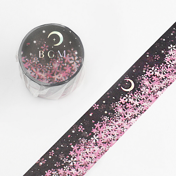 BGM Limited Edition Cherry Blossom Washi Tape - Wide - Moon Sakura