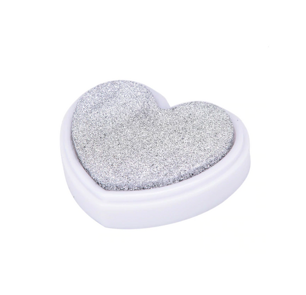Classic Heart Shaped Ink Pad for Stamping and Scrapbooking
