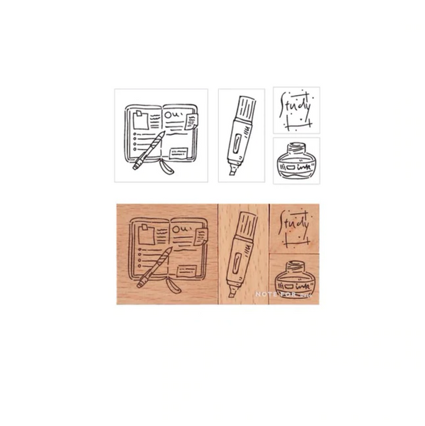 Creative Journaling Rubber Stamps