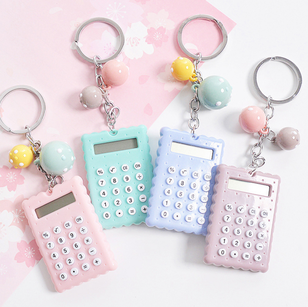 Kawaii Mini Calculator Keyring