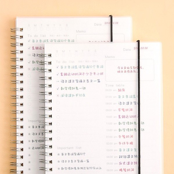Daily Planner Notebook