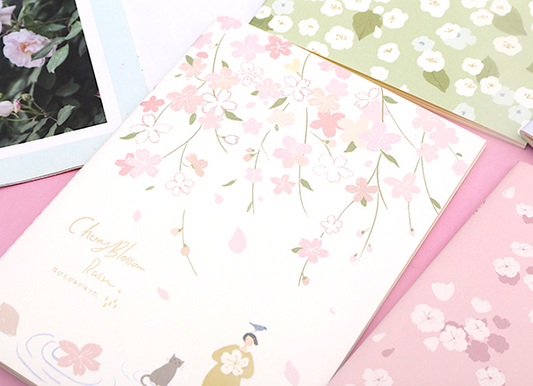 Floating Flowers Paper Notebook