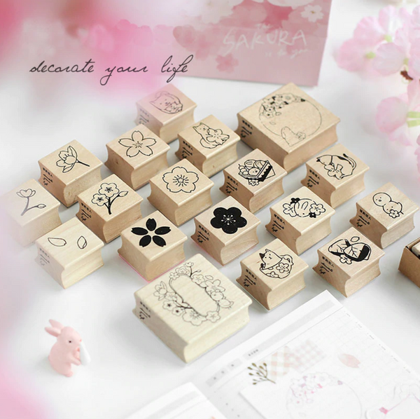 Japanese Sakura Rubber Stamps
