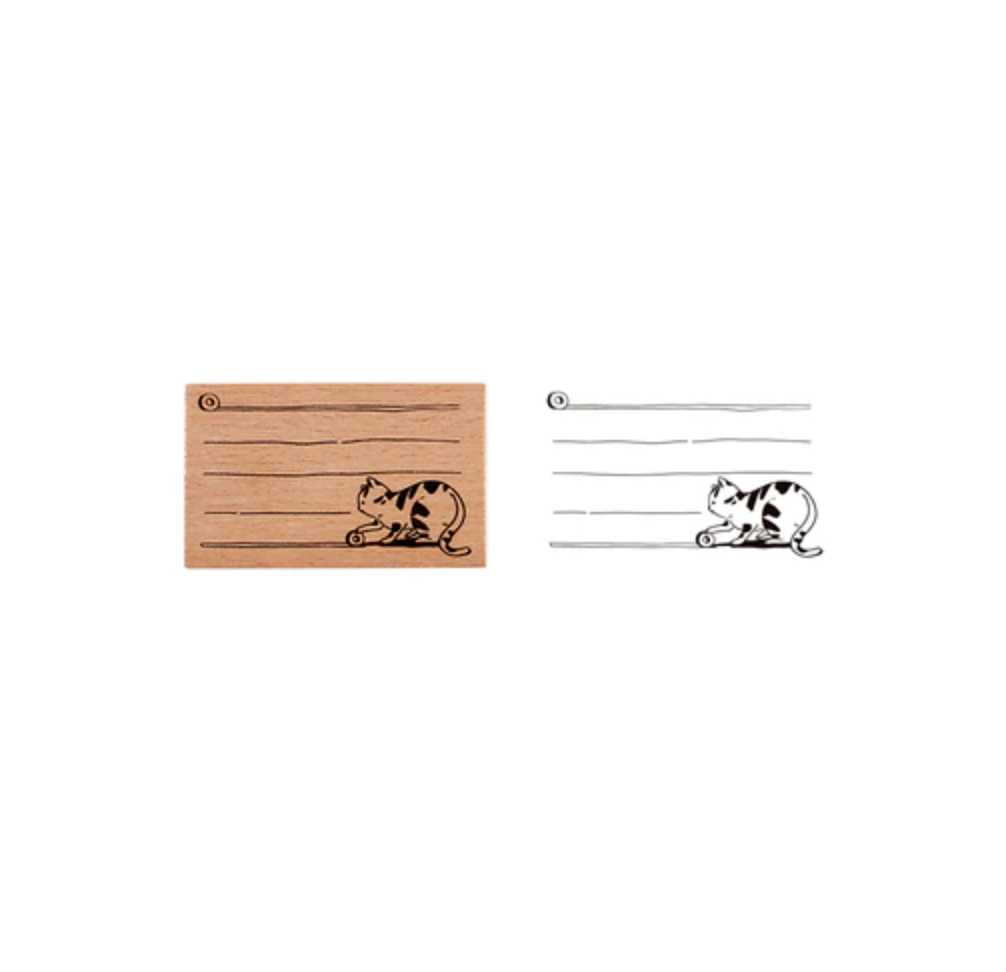 Bullet Journaling Cat Wooden Rubber Stamps