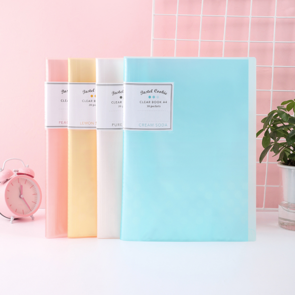 KOKUYO Pastel Cookie Clear Book - A4 - 30 Pockets