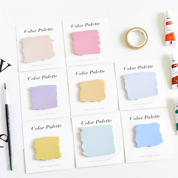 Color Palette Sticky Notes Adhesive Memo Pad Notepad