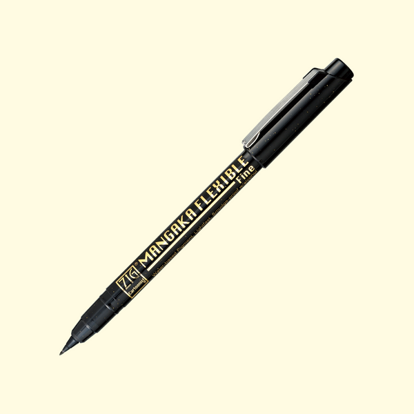 Kuretake ZIG Cartoonist Mangaka Flexible Pen - Fine - Black