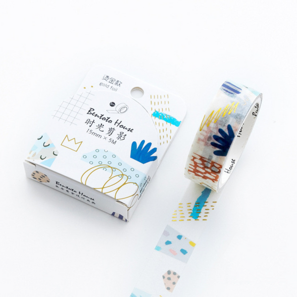 Floral and Animal Gold Foil Washi Tapes | Decorative Adhesive Masking Tapes