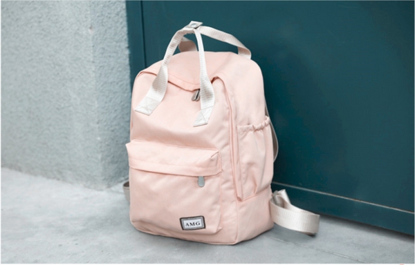 Minimalistic Everyday Travel Backpack School Bag Unisex Female Women