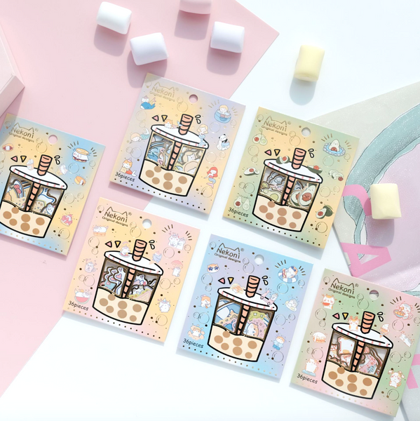 Nekoni Bubble Tea Stickers