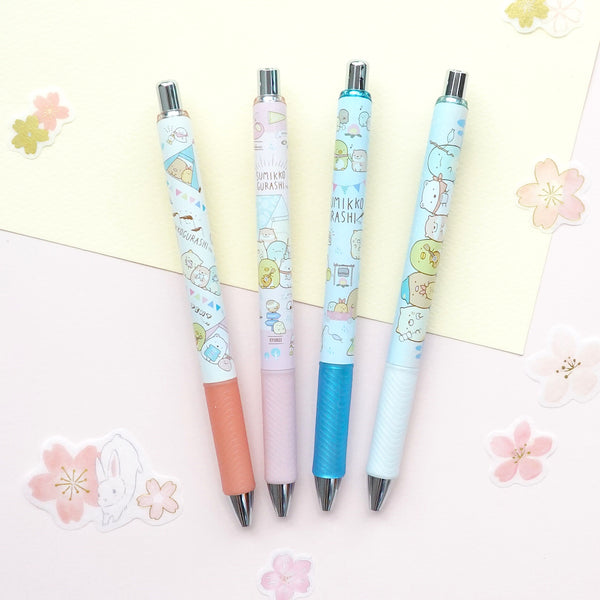 Pentel Energel Sumikko Gurashi Gel Pen & Pencil - Limited Edition