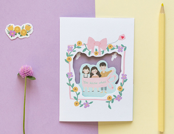 Rosy Posy Greeting Card + Envelope