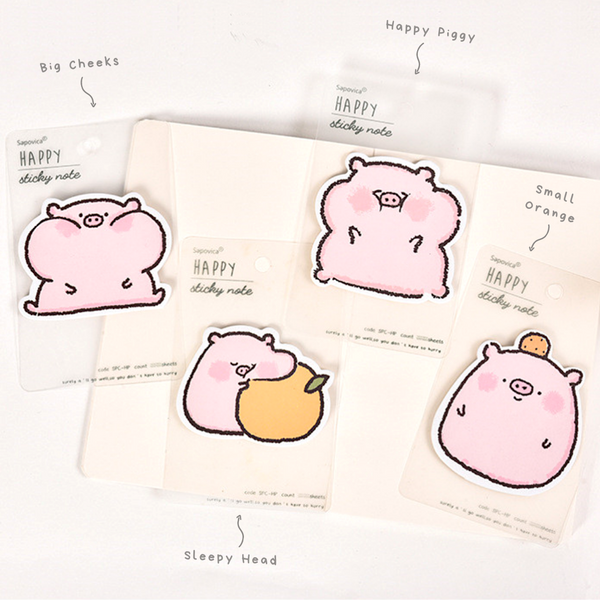 Happy Piggy Sticky Notes