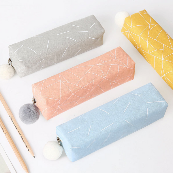 Square Shape Canvas Pencil Case