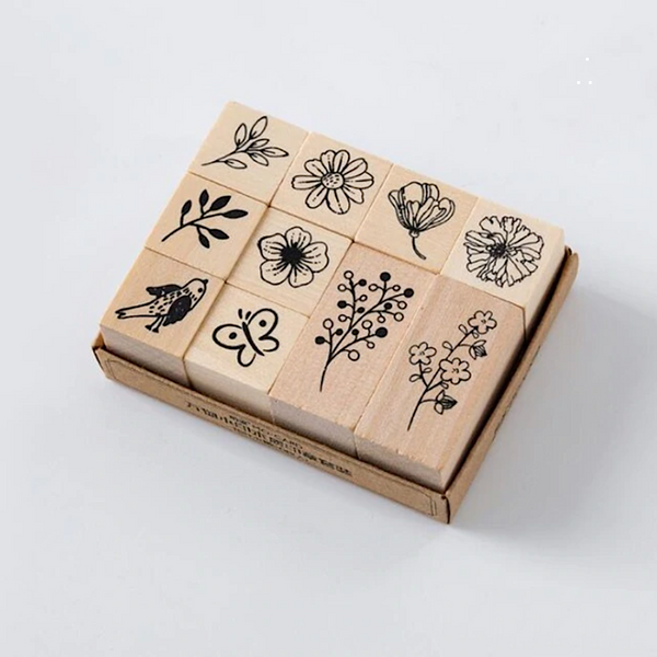 Beautiful Nature Wooden Stamps
