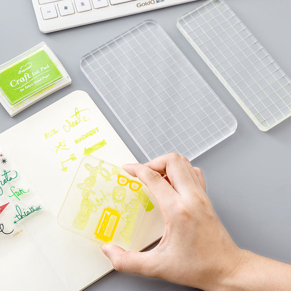 Transparent Acrylic Stamp Block | Stamping Plate