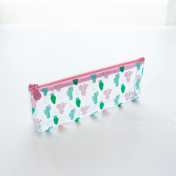 Transparent Cactus Pencil Case