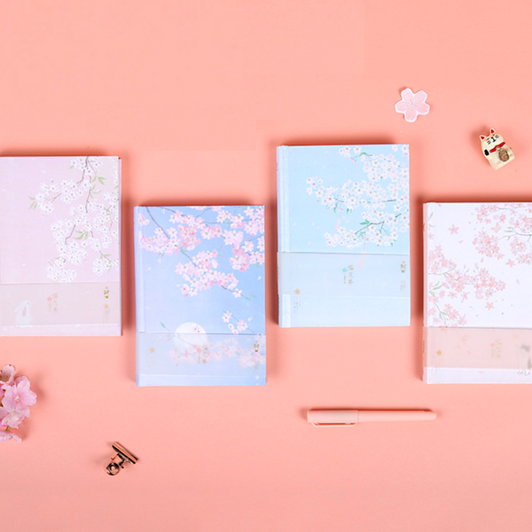 Cherry Blossom Hardcover Notebook