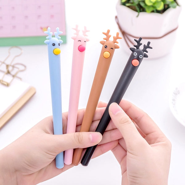Kawaii Reindeer Gel Ink Pen