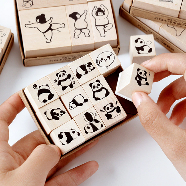 Panda Wooden Stamps
