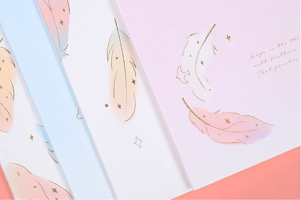 Golden Feather Paper Notebooks
