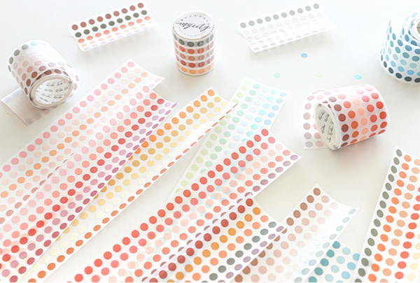 Basic Color Die-Cut Dots Washi Tape