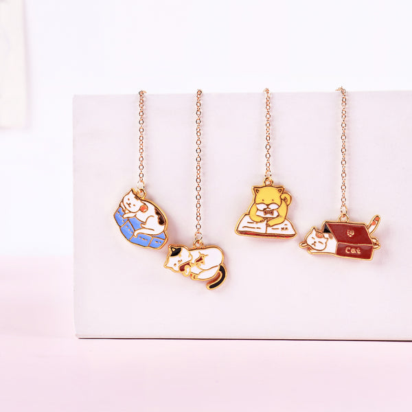 Cat & Dog Pendant Bookmark