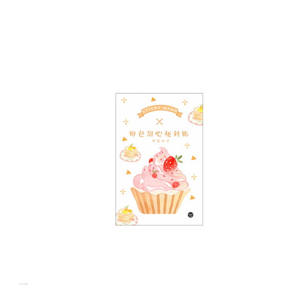 Strawberry Dessert Sticky Notes