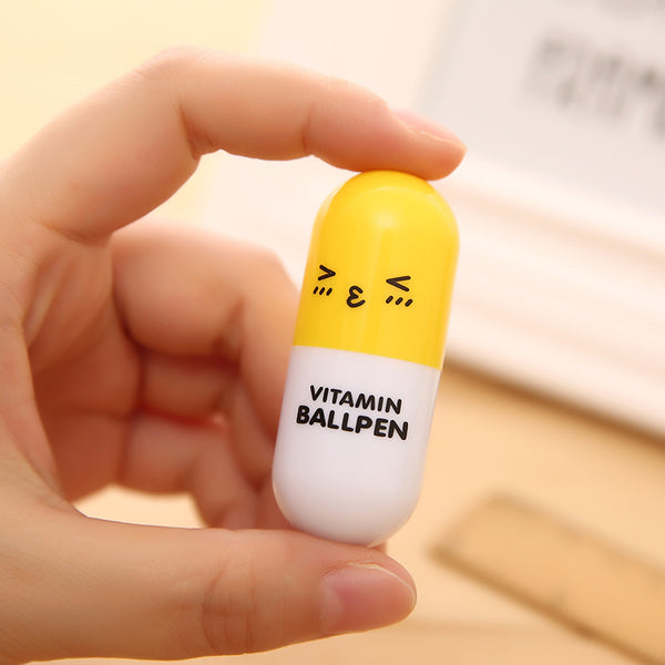 Retractable Vitamin Pill Ballpoint Pen