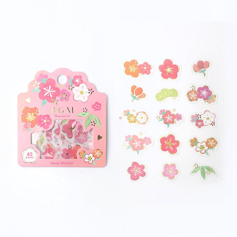 BGM Deco Flake Stickers - Japanese Cherry Blossom