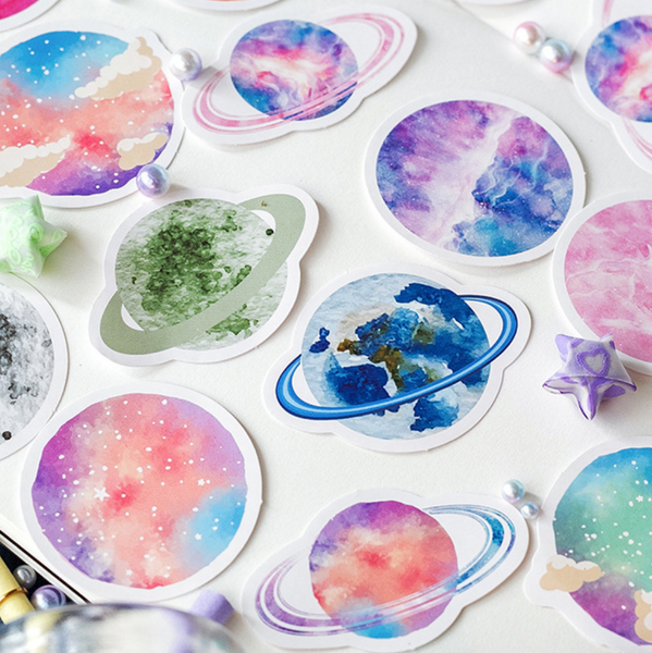 Colorful Universe Paper Stickers