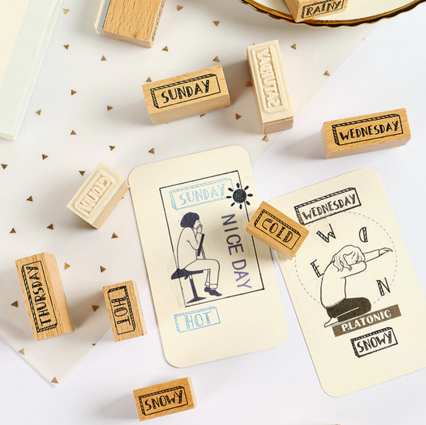 Days of the Week Wooden Stamps