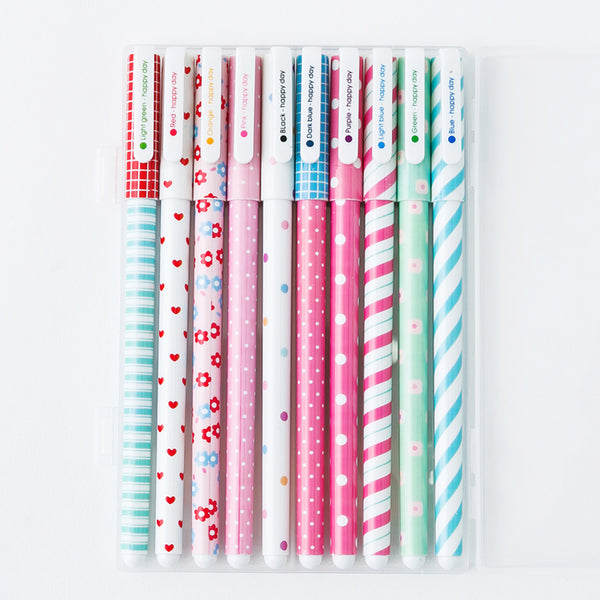 Kawaii Pattern Color Gel Pen 10-Pack 4